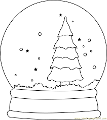 Small Picture Christmas Tree Snow Globe Coloring Page Free Christmas