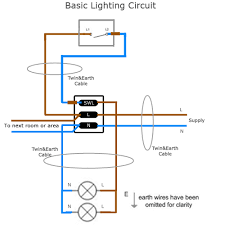 wiring a simple lighting circuit sparkyfacts co uk basic lighting circuit full