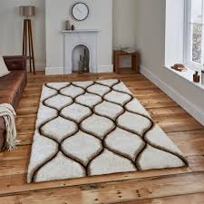 noble house nh30780 cream brown rug by think rugs