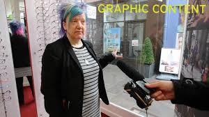 Shop workers horrified when women drop trousers in broad daylight.