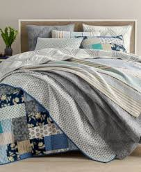Martha Stewart Collection Gramercy Gate Reversible Full/Queen ... & Martha Stewart Collection Globe Trotter Cotton Quilt and Sham Collection,  Created for Macy's Adamdwight.com