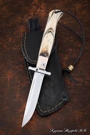 <b>Нож</b> Финка НКВД <b>складная</b> сталь Elmsx накладки кость мамонта ...
