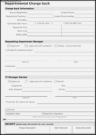 Chargeback Model Template Vatoz Atozdevelopment Form And Resume
