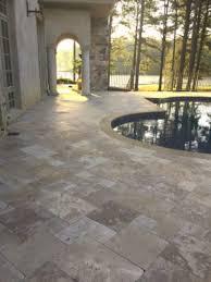 travertine versus concrete pavers
