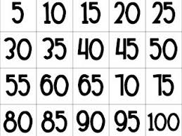 Counting By 5s Printable Chart There Are Several
