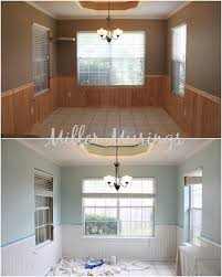 white brown colors kitchen breakfast. before and after kitchen breakfast area with benjamin moore palladian blue white dove brown colors s
