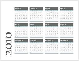 Microsoft Office 2010 Calendar Templates Download 2010 Calendar Templates For Microsoft Office 2007 2003