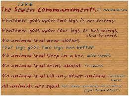 how to teach animal farm simple goals the commandments revisions