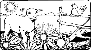 Coloring Page Animal Coloring Page Farm Animals Picgifscom