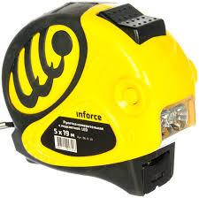 Измерительная <b>рулетка</b> с <b>подсветкой</b> LED 5м х 19мм Inforce 06 ...