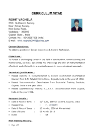 Instrument Technician Sample Resume Instrument Technician Resume Examples Examples Of Resumes 1