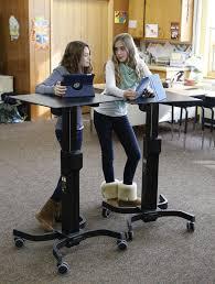 standing desks for schools photo courtesy ergotron inc