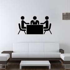 business meeting wall sticker office wall decal school office home decor