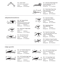 Johnsonite Transitions Chart Flexco Rubber Flooring Vinyl Flooring Vinyl Accessories