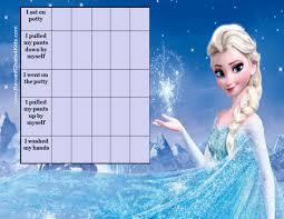 printable potty charts frozen potty training chart