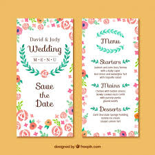 invitations cards free floral wedding invitation card free vector my freepik