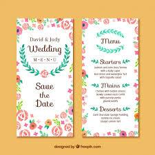invitations cards free floral wedding invitation card free vector my freepik