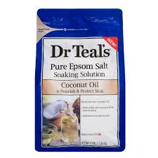 Dr Teals <b>Pure</b> Epsom Salt <b>Nourish</b> Protect Coconut Oil Soaking ...