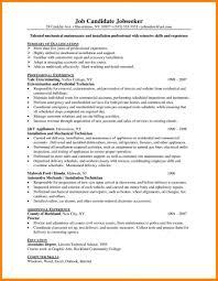 Sample Maintenance Technician Resumes Industrial Mechanic Resume