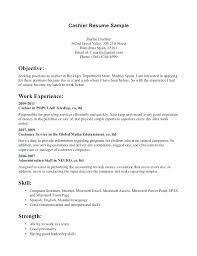 Resuming Sample Cashier Resume Sample Sample Resumes Sample Resumes