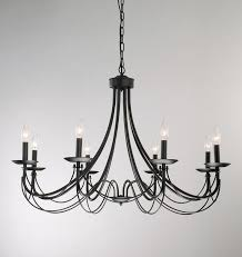 chandelier inspiring black metal fascinating for wrought iron plans 11