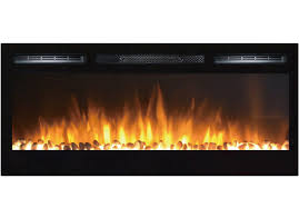 36 inch cynergy pebble built in recessed wall mounted electric fireplace