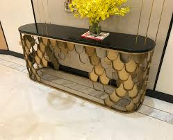 gold console table. New Modern Hallway Gold Console Table Designs D