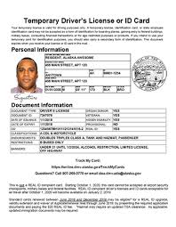 Temporary Alaska Vehicles Department Id Motor Administration Division And Of Your State License