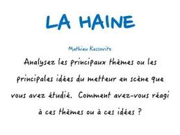 a level french la haine main themes of film director and your  a level french la haine main themes of film director and your reaction to these model essay by paul 1982 teaching resources tes