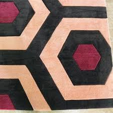 black grey orange rug bayou breeze