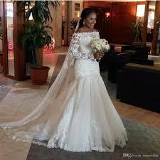 new 2017 sexy mermaid wedding dresses illusion long sleeve
