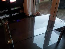 glass coffee table matching tv stand