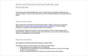 hotel event contract pdf format free template event planning contract templates