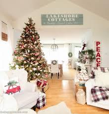 Xmas Living Room Decor Classic Christmas Living Room Tour The Happy Housie