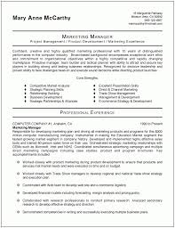 Marketing Manager Resume Template Best Resume Sample Simple Resume Template  Pdf