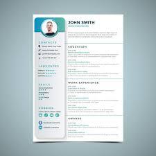 Simple Resume Design Template Download Free Vector Art Stock