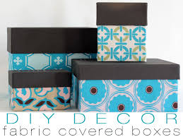Storage Boxes Decorative Fabric DIY Fabric Storage Boxes 2