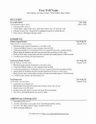 Investment Banking Resume Template Unique Free Sample Investment