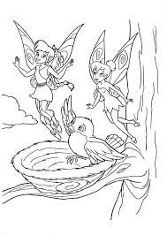 Small Picture Tinkerbell and Fawn say Goodbye to a Bird in Disney Fairies