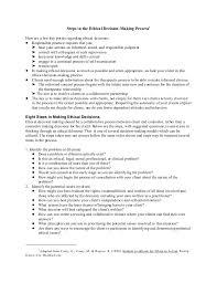 Ethical Decision Making Models Ethical Decision Making Corey Et Al