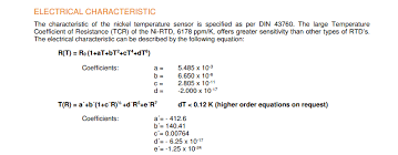 How To Calculate Temperature Resistance For Ni Rtd