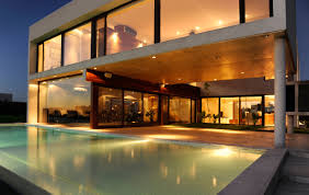 modern house lighting. Swimming Pool, Terrace, Lighting, Modern House In Buenos Aires, Argentina Lighting O