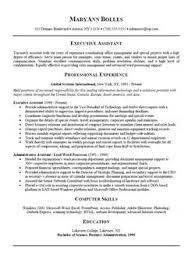 Administrative Resume Samples
