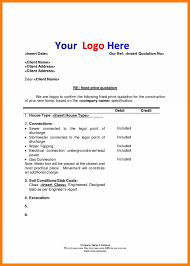 software quotation format in word project quotation checklist