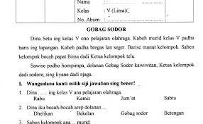 Soal dan kunci bahasa jawa kelas 6 vi sd semester 1 uas 1 ta 2014 2015. Soal Latihan Basa Jawa Kelas 5 Materi Panyandra Jawabanku Id