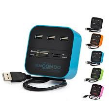 Twobro <b>USB Hub 2.0 3</b> Ports TF Micro SD Card Reader Slot USB ...