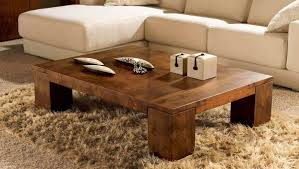 Coffee Accent Tables Square Lacquered Wood Coffee Table Brown