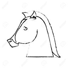 Animal Icon Emblem Of Horse Animal Icon Over White Background Vector Illustration