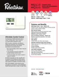 robertshaw non programmable thermostats rs2110 pdf user s manual robertshaw rs2110 manual