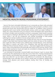 nurse personal statement best mental health nursing personal statement